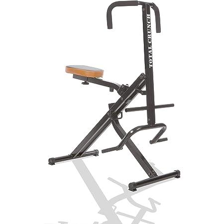 Mediashop Appareil d'entraînement Total Crunch, vélo d'exercice, appareil de fitness, pour les biceps, le latissimus, le ventre, les épaules, le dos, les deltoïdes et pour un travail cardio léger. L'original de la TV