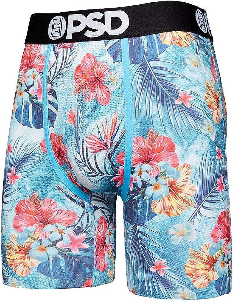 PSD Men's Brief Underwear Bottom (Aqua/Blue Aqua Floral