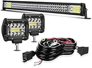 """Led Light Bar TURBO SII 32 Inch 405W Spot Flood Offroad Driving Lights w/4"""" Pods Cube Auxiliary Led Work light Fit Truck P..."""