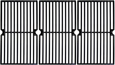 Hongso 17 3/4 Inch Porcelain Coated Cast Iron Cooking Grid Grate Gas Grill Replacement part for Brinkmann 810-7490-F, 810-8410-F 810-8410-S 810-2410-S, 810-2411-F, Charmglow 810-8410-F, PCD103, 3-Pack