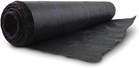 Earth Tack Polyethylene Woven Geotextile Fabric - Ground Cover - Weed Barrier - Water Seepage Resistance - Holding Soil and Sand, 6 ft. x 300 ft.