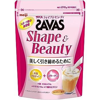 明治 ザバス シェイプ&ビューティ ミルクティー風味【15食分】 210g