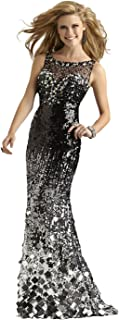 Clarisse Black and Silver Ombre Couture Pageant and Formal Dress 4305