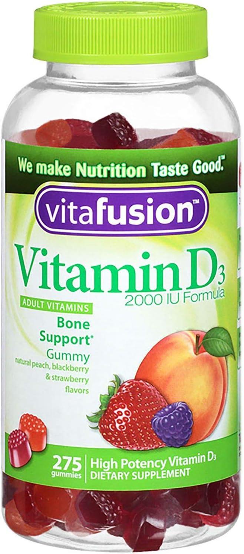 Vitafusion Vitamin D 2000 IU half Gummies 275 Adult mart Count