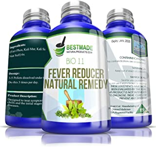 Fever Reducer Natural Remedy (Bio11) A Cell Salts Combination for Fevers, Chills and Headaches, Works for Inflammatory Infections, Helps Build Strong Immunity, Safe to Use for The Whole Family