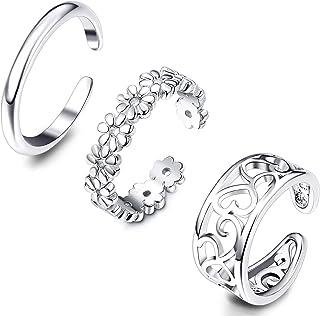Adramata 3Pcs Toe Rings per Le Donne Ragazze Regolabile Open Toe Ring Regali Gioielli Set