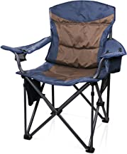 JQ&JQ Portable Stable Folding Camping Chair with Carry Bag support up to 660 Ib, Blue