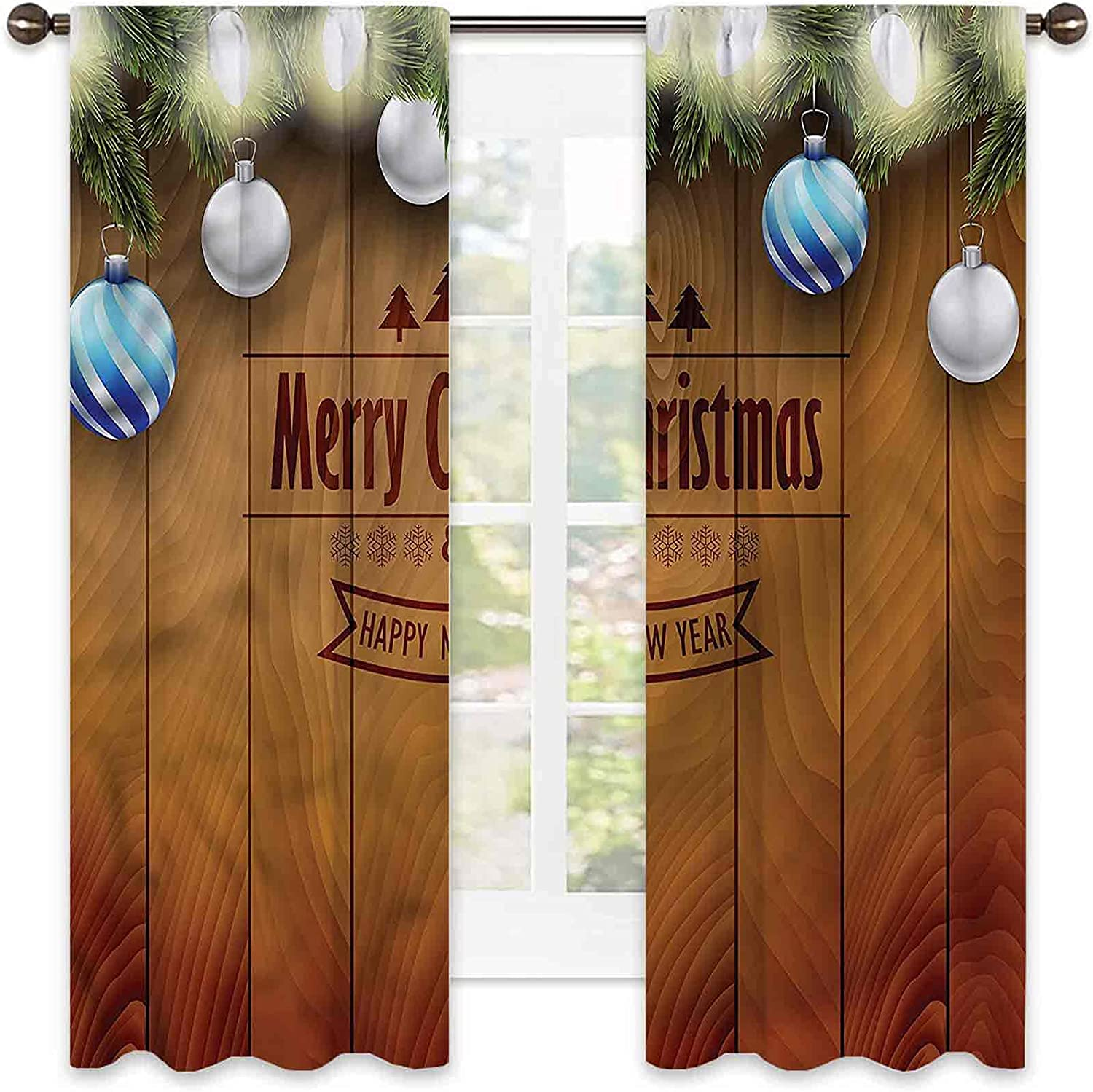 Christmas outlet Blackout Curtain Fairy on Living Pine Room Wood Colo 2021 autumn and winter new