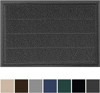 Gorilla Grip Original Durable Indoor Door Mat, 35x23, Large Size, Heavy Duty Doormats, Commercial Waterproof Stripe Doormat, Easy Clean, Low-Profile Mats for Entry, High Traffic Areas, Graphite