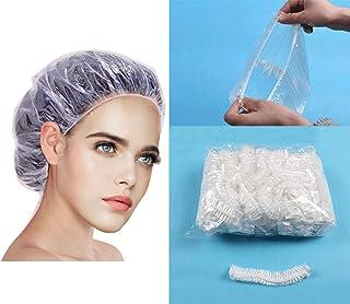 Vixzero 100 Pcs Shower Cap Disposable Thickening Women Waterproof Shower Caps Normal Size