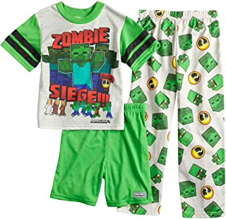Minecraft Zombie 3-Piece Pajama Set, Size 8