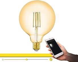 EGLO Connect LED E27 lamp, Smart Home Vintage gloeilamp amber, LED Globe 6 Watt (komt overeen met 51 watt), 650 lumen, E27...
