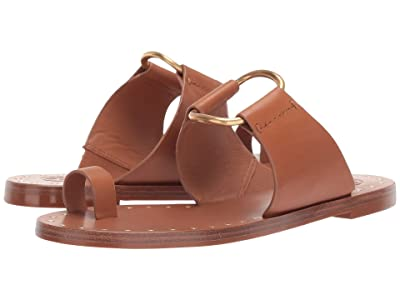 Tory Burch Ravello Studded Sandal (Tan) Women