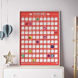 100 Kids Books Bucket List Scratch Poster