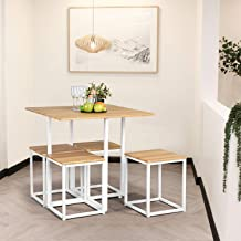 FurnitureR Una Mesa Cuadrada de Comedor con 4 taburetes