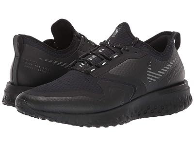 Nike Odyssey React 2 Shield (Black/Black/Metallic Silver) Men
