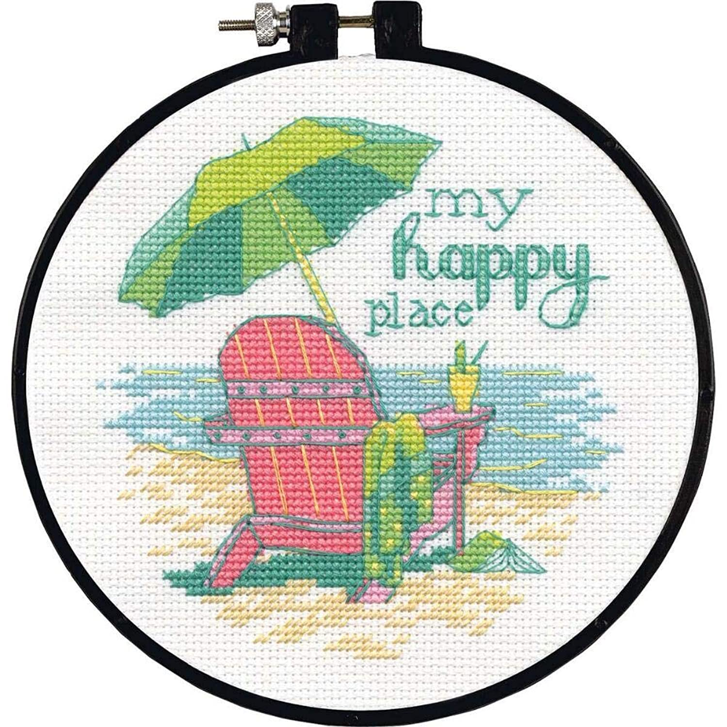 Dimensions 72-75678 Happy Place Counted Cross Stitch Kit