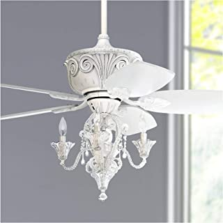 Best antique white ceiling fan with chandelier Reviews