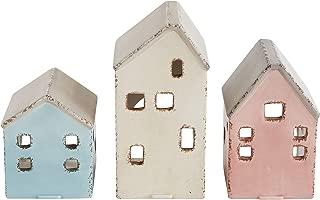 Creative Co-Op Ceramic Houses Set of 3, Multi