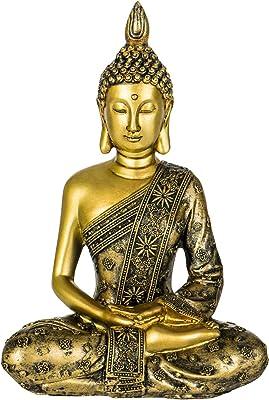 Erleuchtungsbuddha Messing braungold 25cm 2,8kg Erleuchteter Buddha Dhyana Mudra