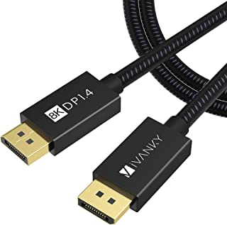 iVANKY DisplayPort 1.4 Cable 6.6ft, Nylon Braided 8K DP to DP Cable (8K@60Hz, 4K@144Hz and 1080P@240Hz), HBR3, 32.4Gbps, H...