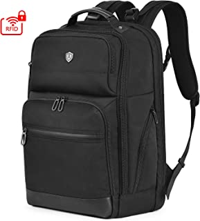 SHIELDON 15.6-inch Laptop Backpack, 28L Large Business Travel Backpack with Anti-theft Sleeve RFID Blocking Pocket, Water Resistant Computer Backpack College High School Bag for Men/Women/Boys - Black