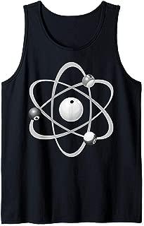 Cute Scientific Billiard Balls Like Atoms Gift Tank Top