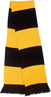 mens black and gold scarf