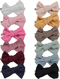 inSowni 12 Pack Stretchy Nylon Bow Headbands Hairbands Hair Ties Elastics Accessories for Baby Girls Toddlers Newborns Inf...