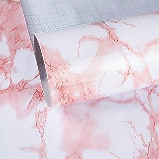 comprar comparacion TOTIO Papel pintado de mármol para puerta de mesa, color rosa, 15.75 x 118.11 pulgadas, vinilo autoadhesivo de mármol de g...