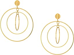 Tory Burch Square Wire Hoop Earrings