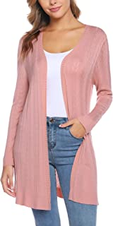 iClosam Women's Long Sleeve Open Front Cardigan Casual Knit Sweater