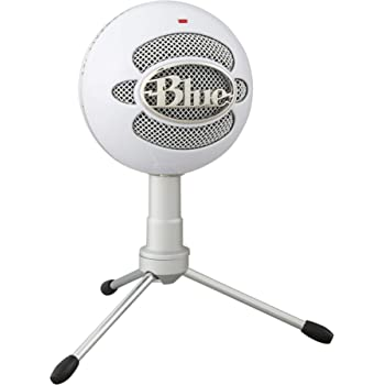Blue Microphones Snowball iCE USB Mic for Recording and Streaming on PC and Mac, Cardioid Condenser Capsule, Adjustable Stand, Plug and Play - White