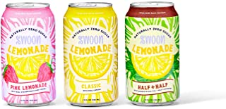 Sugar Free Healthy Lemonade Variety Pack by Swoon - 3 Flavors, Low Carb, Keto and Paleo Friendly, 5 Calories - 12 Pack Cans