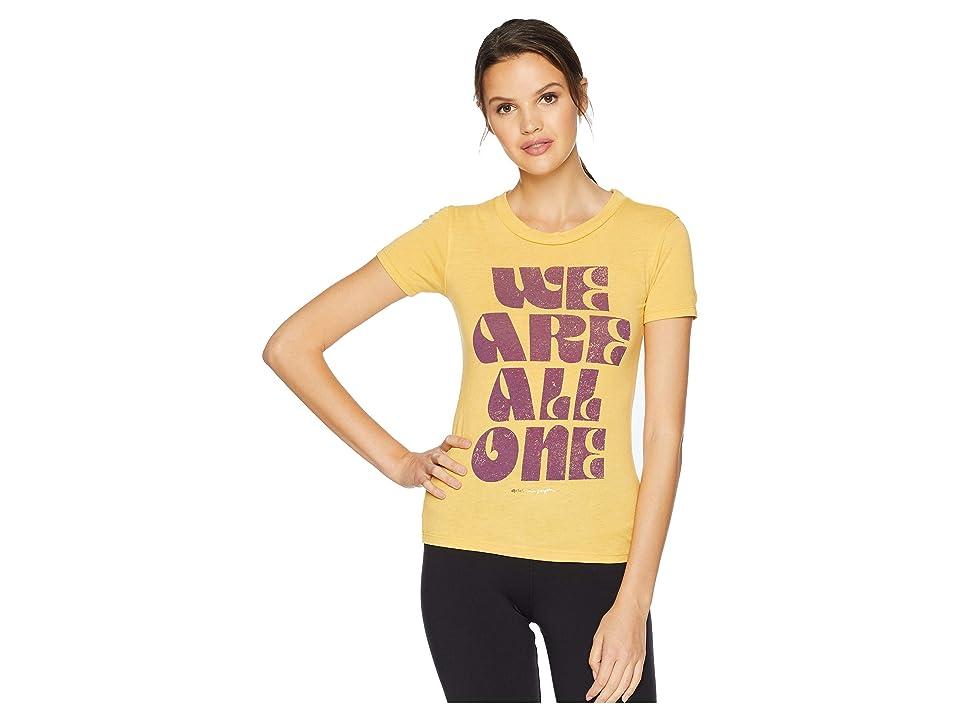 Spiritual Gangster We Are One Tally T-Shirt (Golden Sun) Women's T Shirt