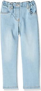 Giggles Front Pocket Elastic Waist Denim Pants for Girls