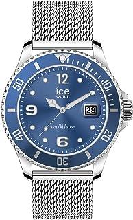 Ice-Watch - Ice Steel Mesh Blue - Montre Bleue Mixte avec Bracelet en Metal - 017667 (Medium)