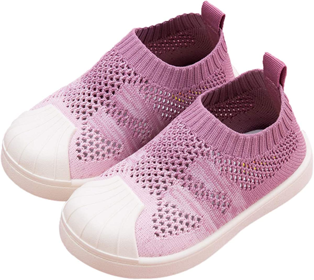 DEBAIJIA Toddler Shoes 1-7T Baby First-Walking Kid Shoes Gradual Change Color Soft Sole Non Slip Mesh Lightweight PVC Material Slip-on
