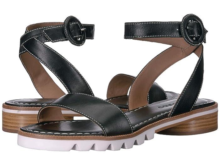 Bernardo  Alexis Sandal (Black Antique Calf) Womens Sandals