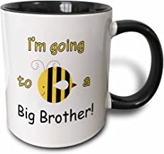 3dRose I m going to be a big brother - Two Tone Black Mug, 330ml