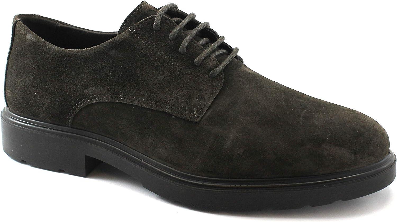 IGI & CO 21006666 Coffee Brown shoes Man Elegant Derby Suede
