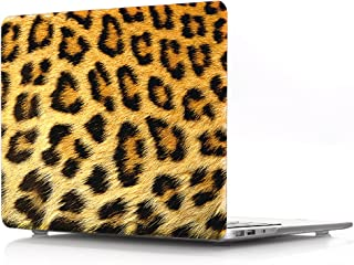 HRH 3D Cheetah Hair Pattern Design Laptop Body Shell Protective Hard Case for MacBook New Pro 13 inch with Touch bar A2159 A1706 A1989/without Touch bar A1708 A1988(2019 2018 2017 2016 Release)