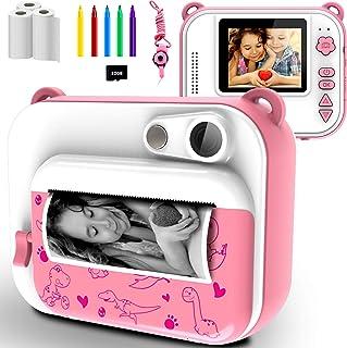 Appareil Photo Enfants à Impression Instantanée avec Papier d'impression, Caméra Jouet Numérique 1080P HD avec écran de 2,...