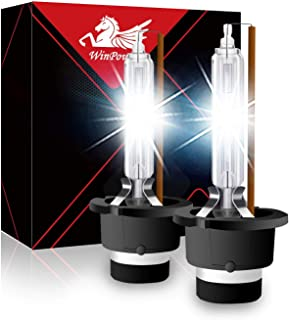 WinPower D4S Xenon Discharge Bulbs High Brightness OEM Warm White 35W 4300K, 2 Years Warranty