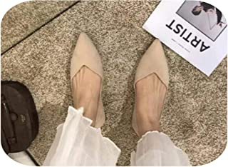 Single Shoes Female 2020 Spring New Wild Flat peas Shoes Pointed Shallow Mouth Scoop Shoes Tide Evening Shoes