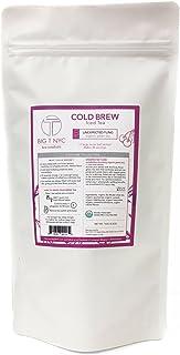 BIG T NYC Organic Cold Brew Iced Tea, Sugar-free, Antioxidant-rich Premium Iced Tea Sachets (Unexpected Fling green tea, R...