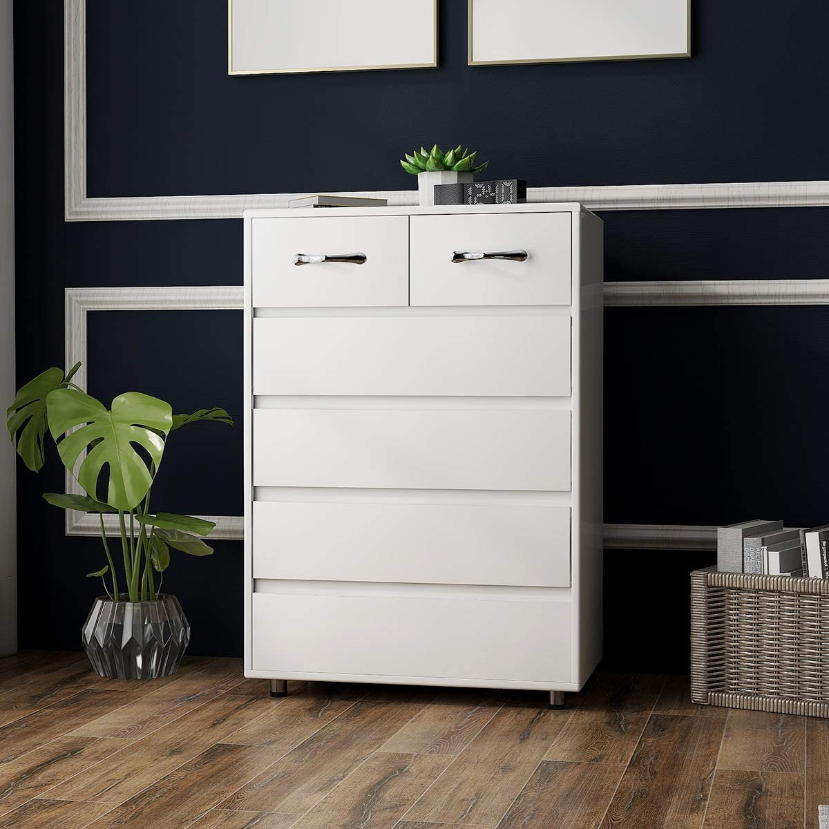 6 Drawers Dressers lowest price RASOO Chest of Tall Bedroom Cabinet High order St Drawer