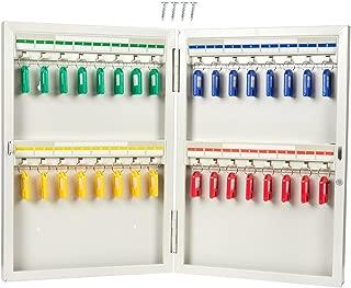 Key Cabinet - Steel Key Storage Locker - Wall Mounted Key Holder Box for 32 Keys, Includes 32 Key Tags, 10.25 x 15 x 2 Inches