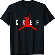 Funny Restaurant Chef - Jumping Chef Knife Logo T-Shirt