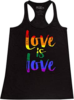 Love is Love Women's Racerback Gay Pride Tank Tops Slim FIT
